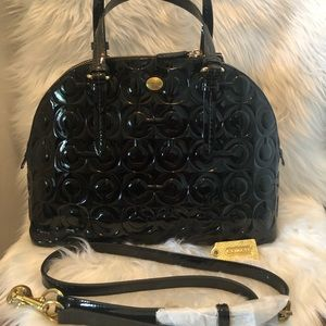 COPY - Coach Embossed Patent Cora Domed Satchel